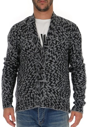 Saint Laurent Comics Jacquard Cardigan
