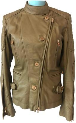 Roberto Cavalli Khaki Leather Jacket for Women