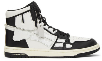 Amiri Black and White Skeleton High-Top Sneakers