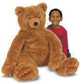 Melissa & Doug Jumbo Brown Teddy Bear Plush.