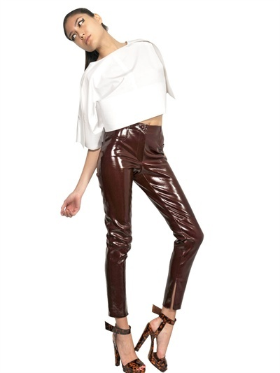 Thierry Mugler Patent Leather Trousers