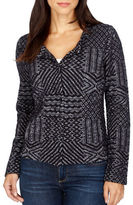 Lucky Brand Cotton Blend Blouse