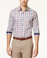 Tasso Elba Men's Fancy Grid-Print Long-Sleeve Shirt, Only at Macy's