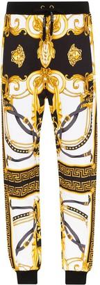 Versace Baroque-Print Cotton Track Pants