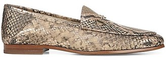 Sam Edelman Loraine Snakeskin-Embossed Leather Loafers