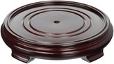 Oriental Furniture Asian Gifts and Home Decor Diameter Round Cherry Rosewood Display Stand/Base, No.9