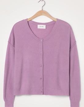 American Vintage Violet Damsville Long Sleeve Cardigan - M/L