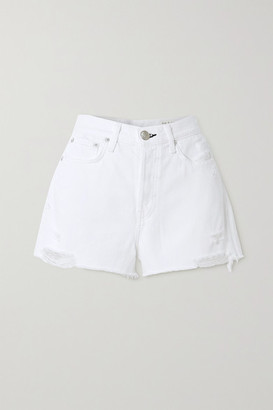 Rag & Bone Maya Distressed Denim Shorts - White