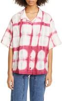 story. Mfg. Tie Dye Organic Cotton Bowling Shirt