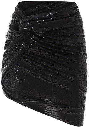 ATTICO Draped Mini Skirt