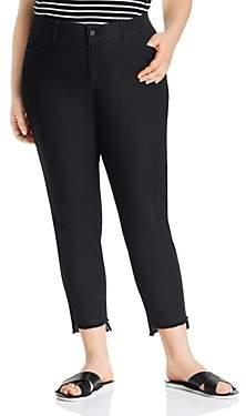 Lafayette 148 New York Plus Mercer Step-Hem Ankle Jeans in Indigo