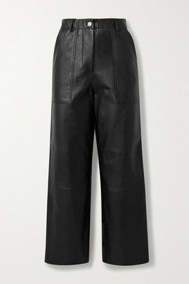 Deadwood Presley Leather Wide-leg Pants - Black