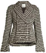 Erdem Marsha hound's-tooth cotton-blend jacket