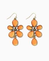 Charming charlie Faceted Pear Burst Dangle Earrings