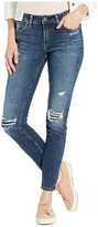 Silver Jeans Co. Elyse Mid-Rise Curvy Fit Skinny Jeans L03116SSX338 (Indigo) Women's Jeans