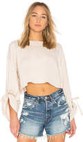 Free People Holala Sweatshirt in White. - size L (also in M,S,XS)