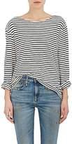 "R 13 Women's ""Ramones""-Striped Cotton T-Shirt"