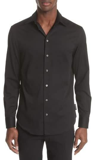 Emporio Armani Slim Fit Solid Dress Shirt