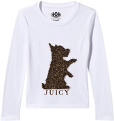 Juicy Couture White and Gold Lurex Scotty Dog Tee