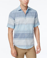 Tasso Elba Men's Big and Tall Plaid Short-Sleeve Shirt, Classic Fit