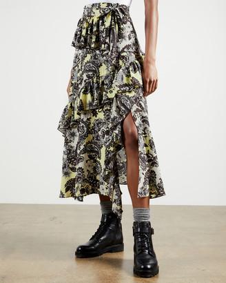 Ted Baker JUMO Paisley Printed Midi Skirt
