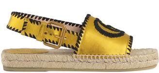 Gucci Metallic leather espadrille sandal