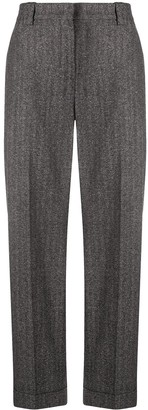 Pt01 Straight-Leg Herringbone Trousers