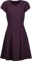 Badgley Mischka Pleated stretch-crepe dress