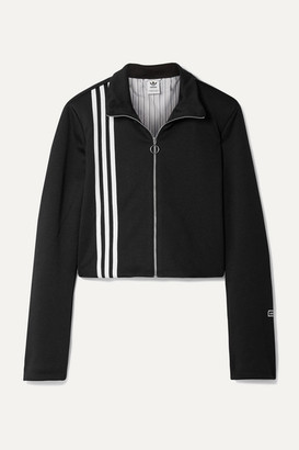 adidas Tlrd Striped Stretch-jersey Track Jacket - Black