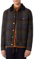 Topman Men's Check Wool Blend Western Jacket