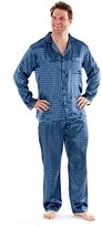 i-Smalls Men's Paisley Design Satin Long Pyjamas (L)