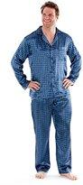 i-Smalls Men's Paisley Design Satin Long Pyjamas (XL)