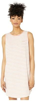 Roxy Love Sun Tank Dress Stripes 2 (Cafe Creme Zoupla Horizontale) Women's Clothing