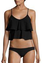 Lisa Marie Fernandez Imaan Tier Flounce Two-Piece Bikini