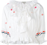 Temperley London ruffled blouse - women - Cotton - 8