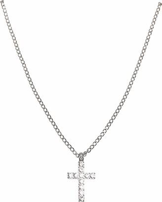 Urban Classics Diamond Cross Necklace Cuff Links