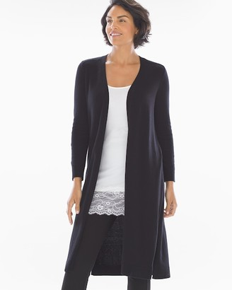 Knit Sweater Duster Black
