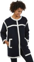 Nautica Contrast Trim Car Coat