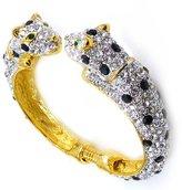 Kenneth Jay Lane 22 Carat Gold Plated Jaguar Cuff Bracelet