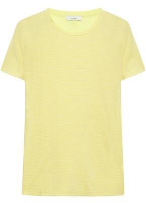 Vince Striped Supima Cotton-jersey T-shirt