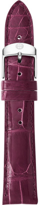 Michele 16mm Alligator Watch Strap, Plum
