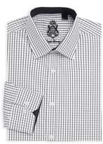 English Laundry Men's Checkered Cotton Dress Shirt