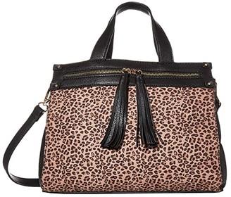 Sole Society SOLE / SOCIETY Zypa Satchel 3 (Black Leopard) Handbags