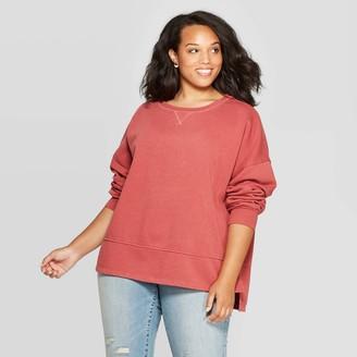 Universal Thread Women's Plus Size Fleece Tunic Pullover Sweatshirt - Universal ThreadTM