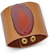 INC International Concepts Semi-Precious & Faux-Leather Cuff Bracelet, Only at Macy's