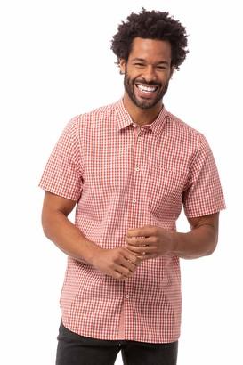 Chef Works Men's Modern Gingham Short Sleeve Dress Shirt