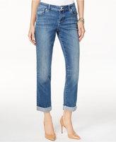 INC International Concepts Curvy-Fit Sunlight Wash Boyfriend Jeans, Only at Macy's