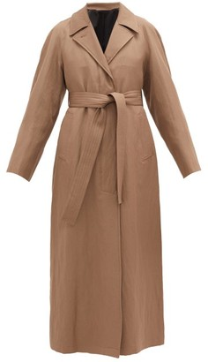 Lemaire Tie-waist Wool-blend Coat - Light Brown