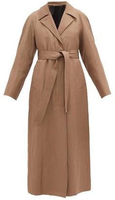 Lemaire Tie-waist Wool-blend Coat - Womens - Light Brown