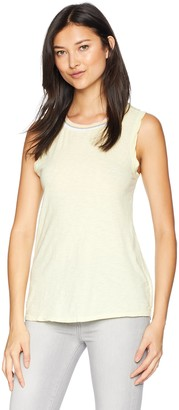 Velvet by Graham & Spencer Women's Sora Cotton Slub Ringer Tank Top